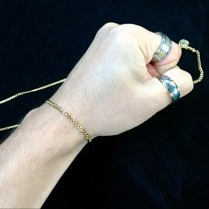 Other - MICRO CUBAN LINK 18K GOLD BRACELET MADE IN ITALY